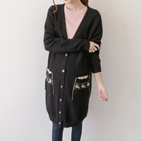 Spring Autumn Casual Loose Knitting Sweaters For Pregnant Women Cardigans Coat Maternity Outerwear Knitted Long Sweater