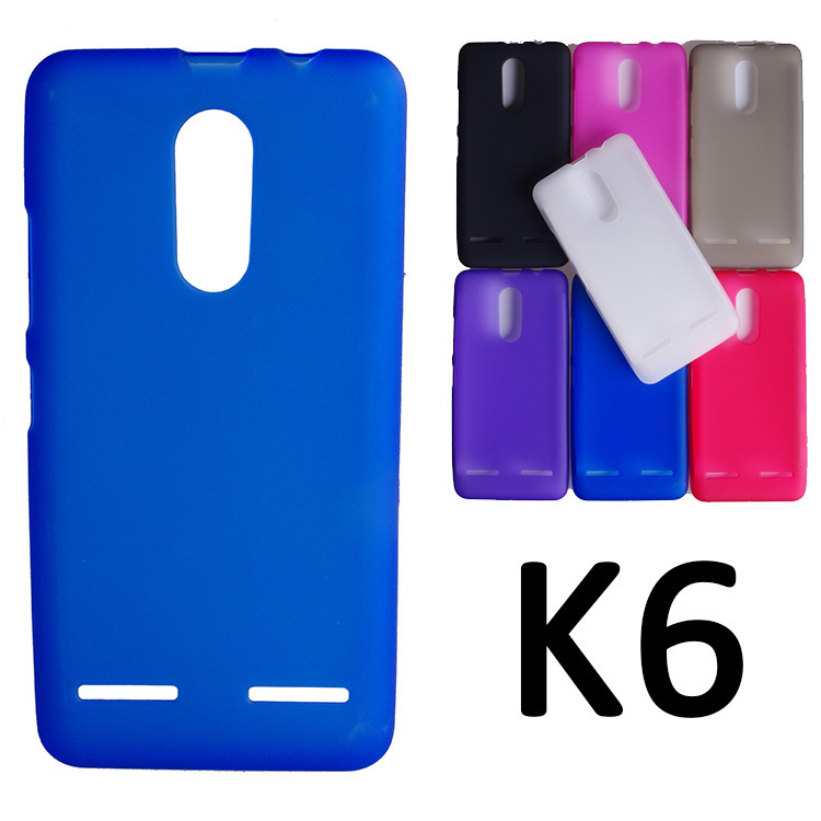 UVR For Lenovo K6 Case Dual SIM Mobile Phone Bag Matte TPU Case Cover For Lenovo K6 Cover Shell Coque Cases