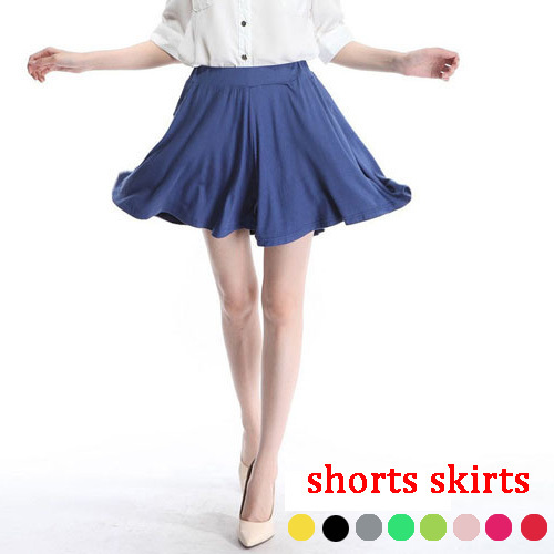 Candy colors Modal shorts skirts 2016 summer women outerwear short pants with pockets casual loose brand femininos q454