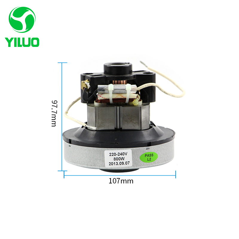 220V 800w low noise vacuum cleaner motor 107mm diameter of household vacuum cleaner for QW12T-05A QW12T-05E QW12T-80D vacuum pump inlet filters f007 7 rc3 out diameter of 340mm high is 360mm