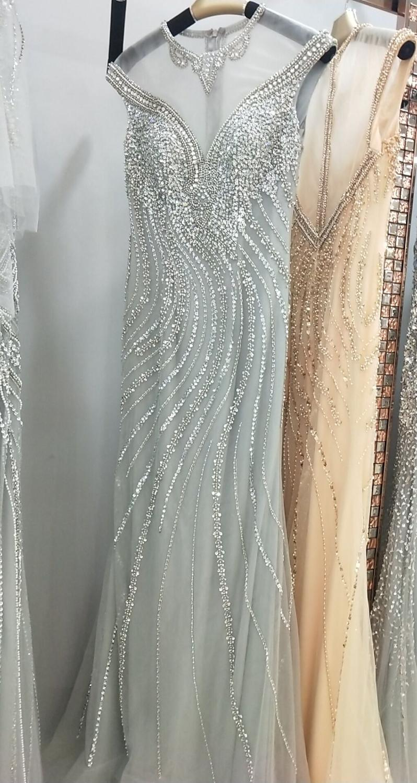 Image 5 - Gold Evening Dresses Walk Beside You Mermaid Beaded Crystal Sleeveless Sukienka Wieczorowa Vestidos Formales Royal Prom Gown-in Evening Dresses from Weddings & Events