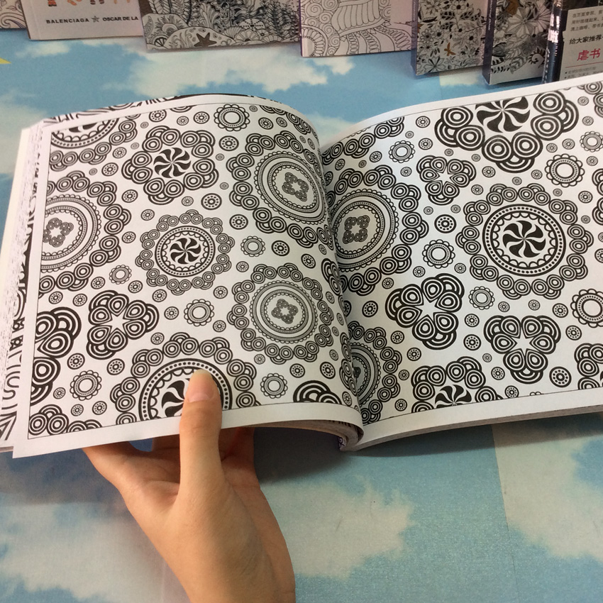 Mandalas Coloring Books For Adults Kids Relieve Stress Graffiti ...