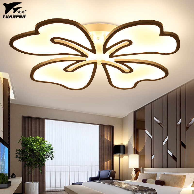 New Arrival Beauty Flower Shape Remote Control Ceiling Lights Acrylic LED Lamp For Living Room
