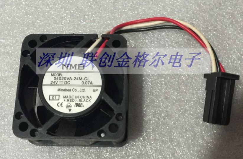 NMB-MAT 04020VA-24M-CL 01 Server Square Fan DC 24V 0.07A 40x40x20mm 3-wire emacro for nonoise a8025h24b server square fan dc 24v 0 095a 80x80x25mm 2 wire