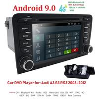 2 GB RAM Android 9.0 Car DVD Radio Player for AUDI A3 2003 2011 S3 RS3 with WiFi Bluetooth GPS Navigation Stereo TPMS DAB SWC SD