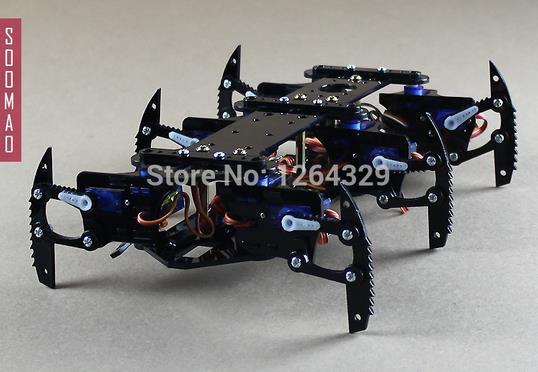 Spider-Man! Six foot/6 foot robot spider, a full set of servos bracket accessories remote control robot/robot parts for DIY a set of six volume 14