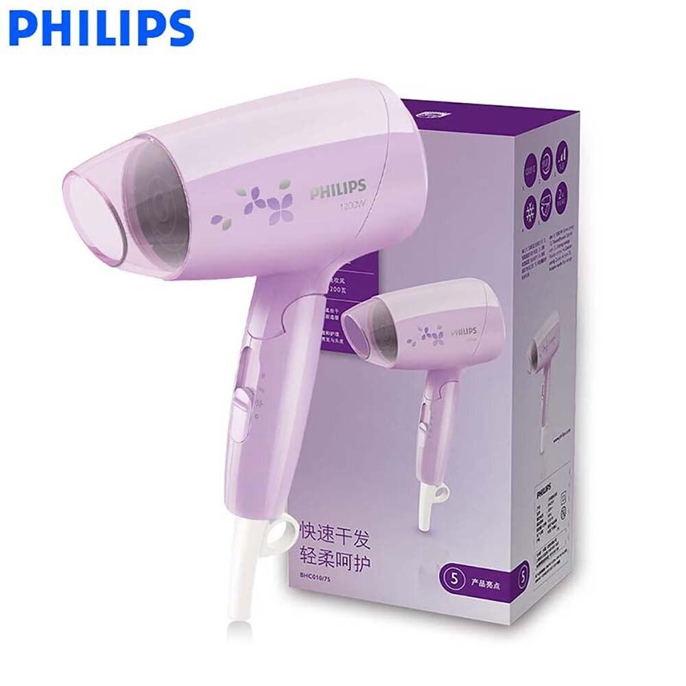 Ev Aletleri'ten Saç Kurutucular'de Philips Profesyonel Saç Kurutma Makinesi BHC010 1200 W Sabit Sıcaklık Saç Bakımı Katlanabilir Blower title=