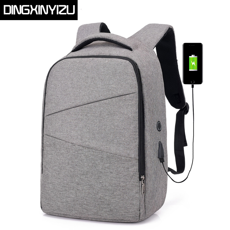 DINGXINYIZU USB Charging 15.6inch Laptop Men Backpacks Student School Bags Large Capacity Business Rucksacks Travel Male Mochila