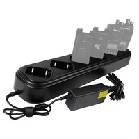 Six Way Single Row Universal Rapid Charger For Retevis RT8 TYT MD 390 Two Way Radio