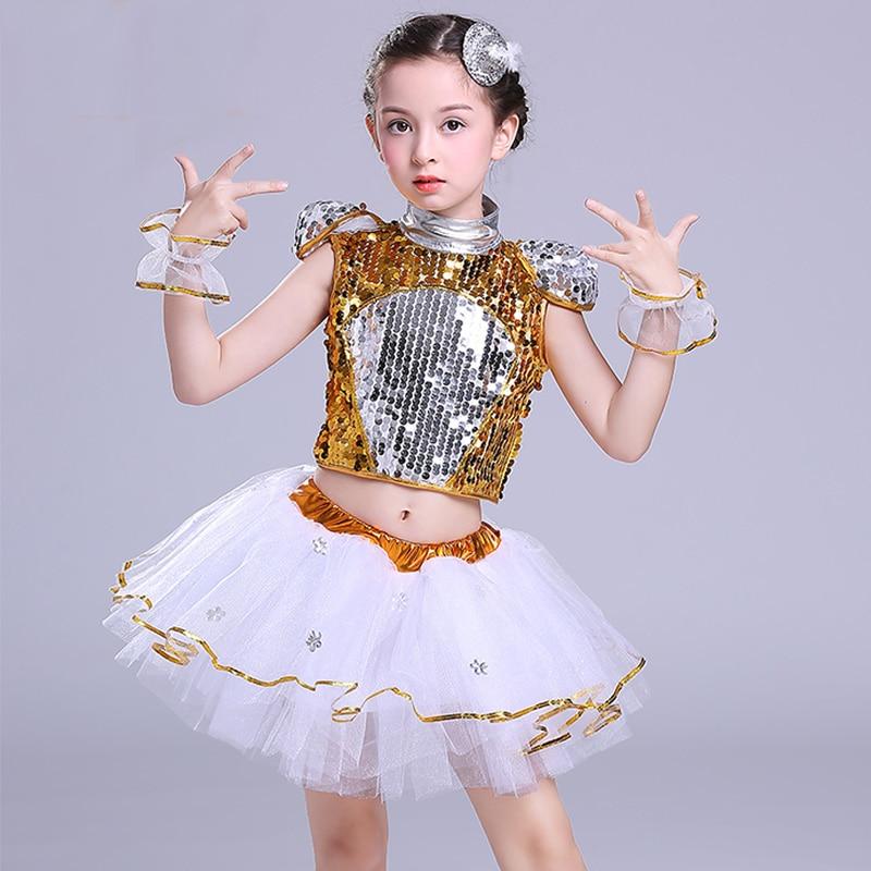 Nouveaux Costumes modernes de danse Jazz pour enfants Hip Hop garçon filles pantalons et haut de gamme paillettes Jazz danse Performance ensemble