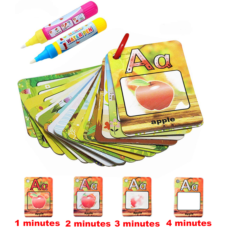 Coolplay Agua Dibujo Tarjeta 26 Alfabeto Libro Para Colorear Y 2