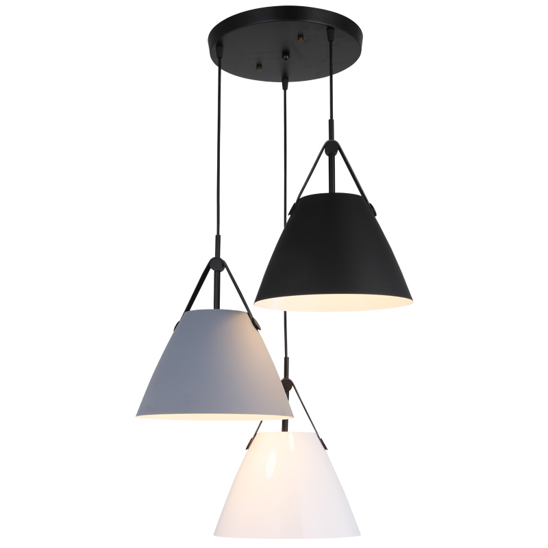 Vintage LED pendant light aluminium leather europe lamp modern Hanging sitting dining room bar coffee shop lighting fixture