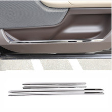 цена на Stainless Steel Car Interior Door Decoration Trim Strips Sticker For Land Rover Range Rover Vogue 2018 Car Accessories 4pcs