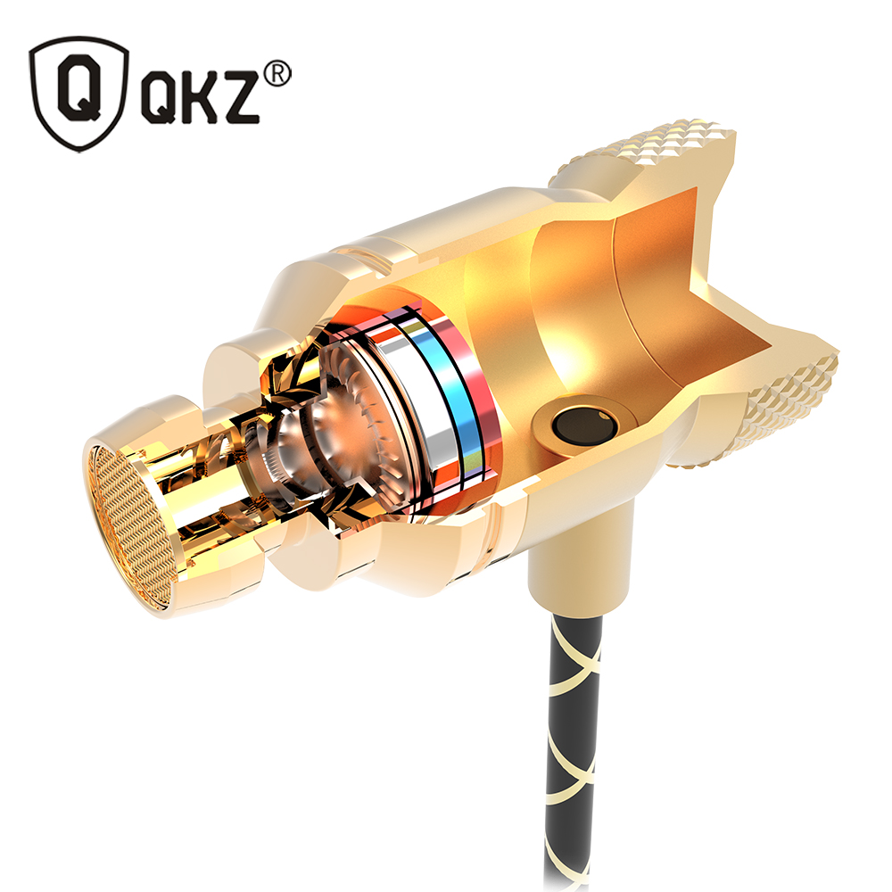 QKZ X5 Auricular Última marca original Super Bass En la oreja Auricular con micrófono de 3,5 mm de alta fidelidad chapado en oro Go Pro Music Headset Auricular