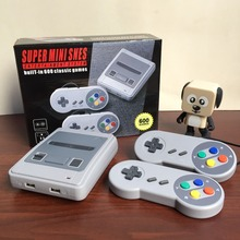 new Retro Classic Handheld Family Mini TV Video Game Console player 8bit games Support AV Out Built-In 600Classic Games For SNES