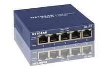 цена на Original Netgear GS105 5-Port 10/100/1000 Gigabit Ethernet ,Bandwidth 10 Gbps ,Unmanaged Desktop Switch