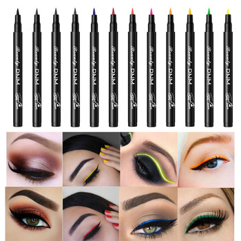 12 Colors Eyeliner Pencil Long Lasting Waterproof Eyes Makeup Pen Liquid Eye Liner Smoothly Pencil Black Make Up Tools Eyeliner