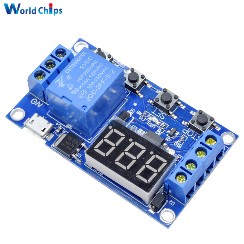 12v Dc Motor To Micro Switches Relay Digital Timer And Battery