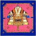Nueva Primavera de La Venta Caliente Mujeres Bufanda 39in 100 cm Bufanda de Seda Estilo de La Moda de Impresión Patrón de Barco Mujeres Pañuelo Mantón Hijab SH15102238