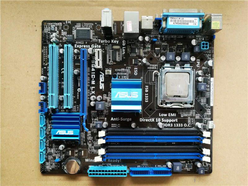 Used,Asus P5G41C-M LX Desktop Motherboard Intel G41 Socket LGA 775 DDR2 & DDR3 u-ATX On Sale asus p5g41 m le original used desktop motherboard g41 socket lga 775 ddr2 8g sata2 usb2 0 uatx