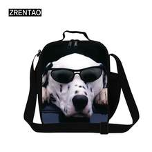 Lunch Bag Dog Printing Portable Insulated Thermal Cooler Box Lunch Food Storage Bag Picnic Container Sac ALunch Purse With Strap(China)