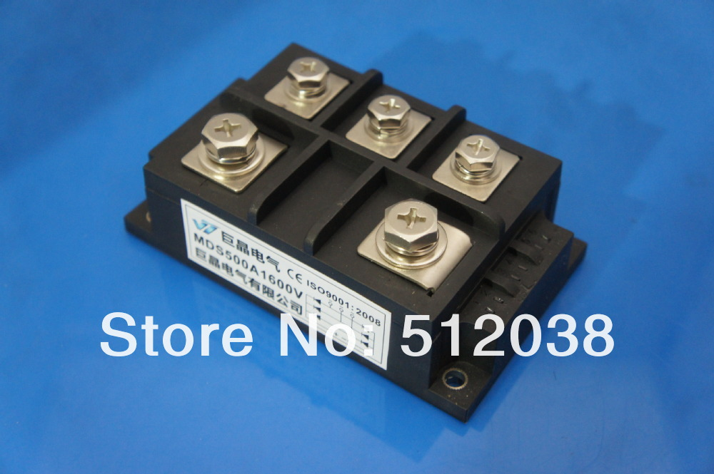 MDS500A 3-Phase Diode Bridge Rectifier module 500A Amp 1600V brand new original japan niec indah pt150s16a 150a 1200 1600v three phase rectifier module