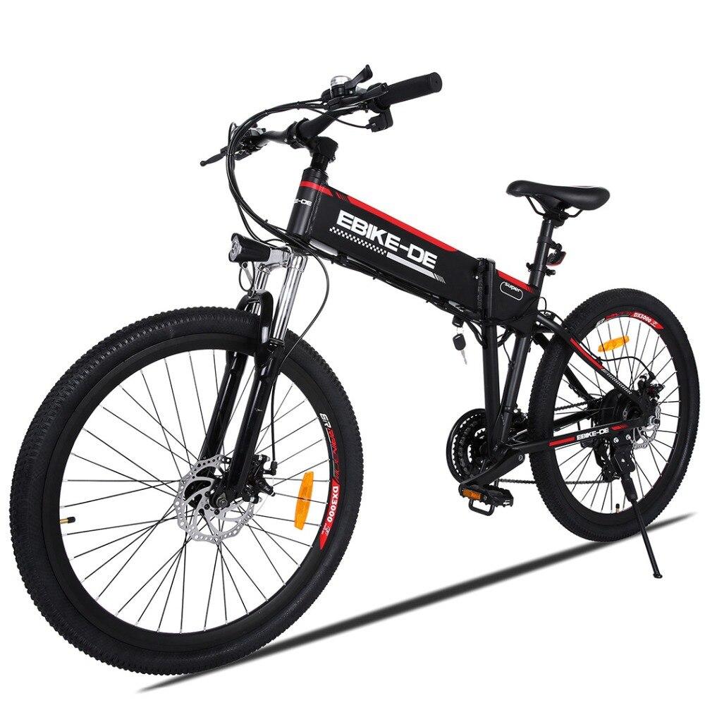ANCHEER Ao Ar Livre Bicicleta Elétrica Da Bateria De Lítio Bicicleta Elétrica Da Liga de Alumínio 250 W Poderosa Cidade Montanha Ebike Plug DA UE Para Os Homens