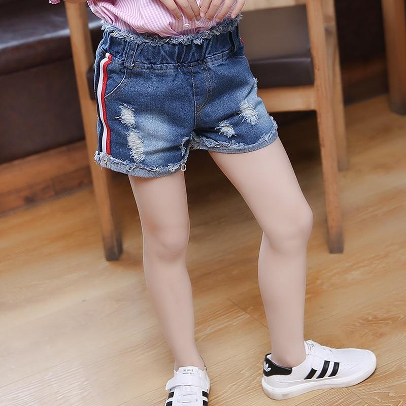 Summer Shorts Denim Babies Girl Hole Jeans High Waisted Shorts ...