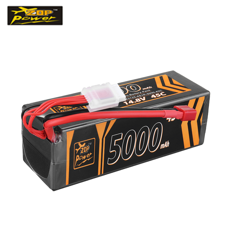 ZOP Power 14.8V <font><b>5000mAh</b></font> 45C <font><b>4S</b></font> <font><b>Lipo</b></font> <font><b>Battery</b></font> T Plug RC Batteryfor RC Car RC Remote Control Toys Spare Parts image
