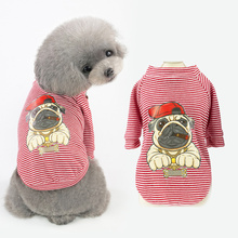 100% Cotton Pet Small Dog Coat Summer Waistcoat Clothing Fashion Pets Striped Printed Cat Clothes Breathable Bulldog Jacket