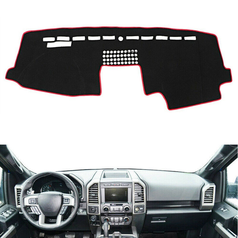 For Ford F-150 <font><b>F150</b></font> 2015 2016 2017 2018 Dashboard Cover Mat Pad Dashmat Dash Sun Shade Instrument Protect Carpet Car <font><b>Accessories</b></font> image