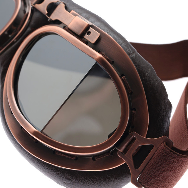 ef72c70e3 ... Glasses Vintage Motocross Classic Goggles Retro Aviator Pilot Cruiser  Steampunk ATV Bike UV Protection Copper. Previous