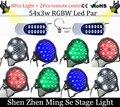 8Pcs/lots l 54X3W RGBW LED Par Light LED PAR DMX512 controller led lights with 2pcs Remote control disco lights DJ equipment