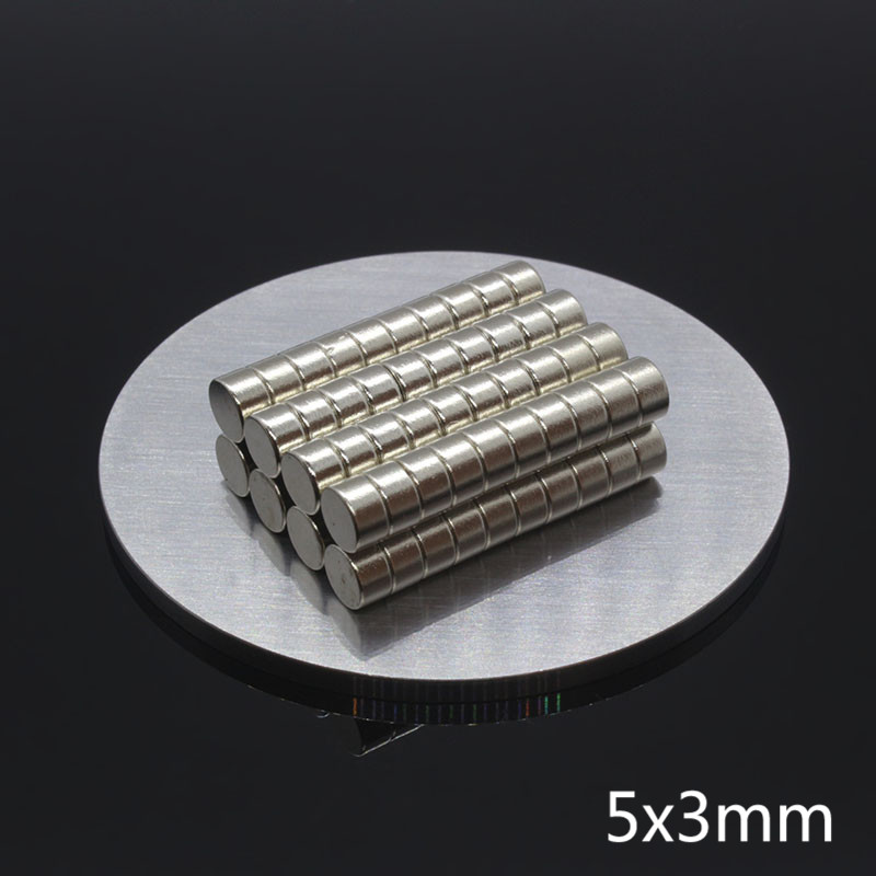 200Pcs 5x3mm Mini Neodymium Magnet Disc 5mm x 3mm N35 NdFeB Permanent Small Round Super Strong Powerful Magnetic Magnets Fridge