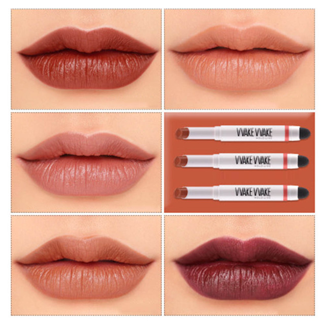 Velvet Air Cushion Lipsticks Red Brick Aunt Pumpkin Color Eat Soil Lipstick 5 Colors Matte Lip Gloss Makeup