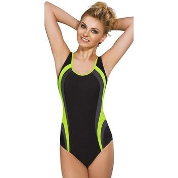O Neck Athletic Style One Piece Swim Suit 1
