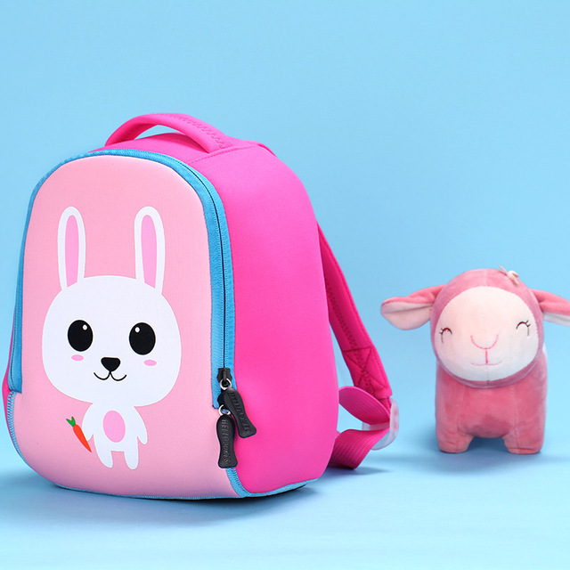 e878ff46817e 2018 New Cute lion Animal Design Toddler Kid rabbit School Bag Kindergarten  Cartoon dog backpack Preschool 1-3 years boys girls
