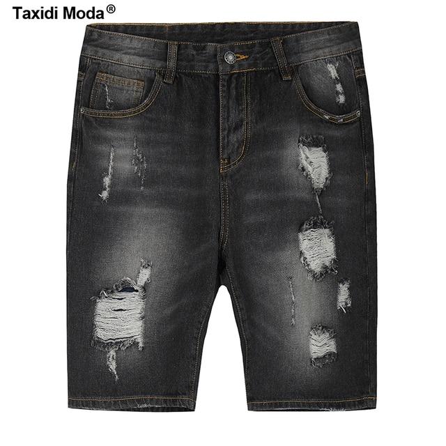 4dd74730f1b Taxidi-moda-2017-verano-Moda-hombre-Denim-Pantalones-cortos-agujero-negro-gris-marca-ropa-para-hombre.jpg 640x640.jpg