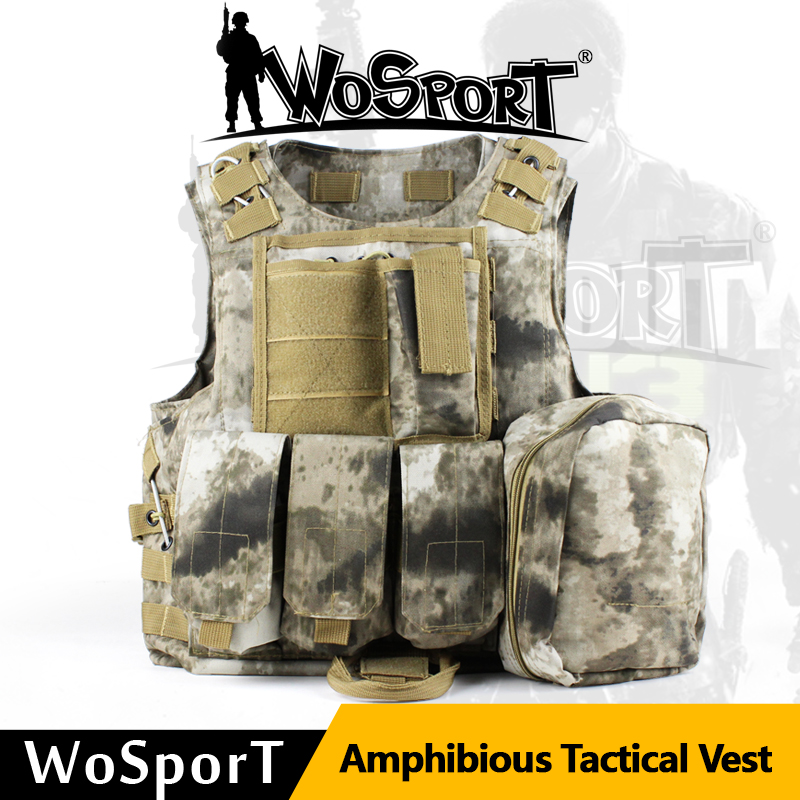 011602 Tactical Airsoft Hunting Military Molle Combat 900D Vest Tactical multicam camo CS Outdoor Assault Plate Carrier emersongear lbt2649b hydration carrier for 1961ar molle backpack military tactical bags hunting bag multicam tropic arid black