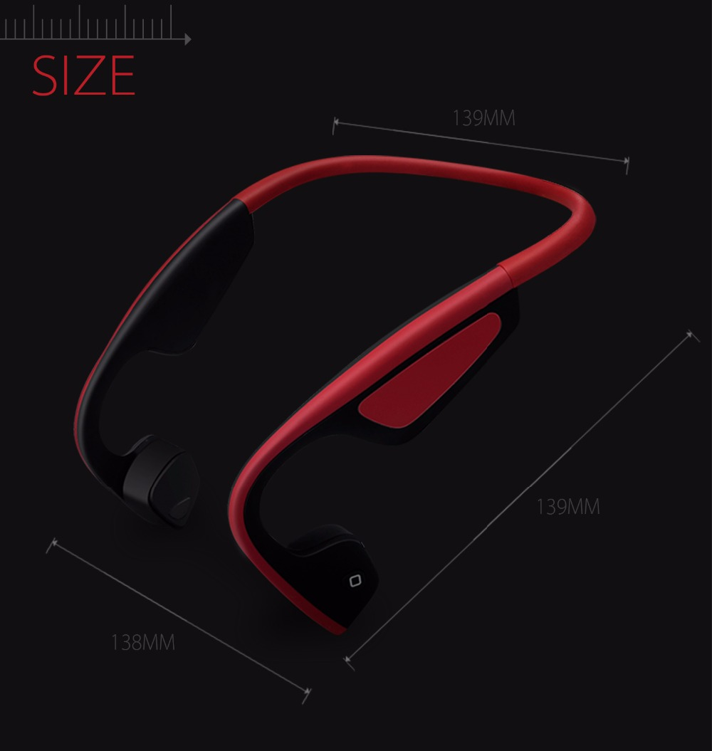 S.Wear Bluetooth Bone Conduction Headset Wireless Sports Headphones Handsfree Phone Calls Music Earphones LF-19 With Box 3 Color
