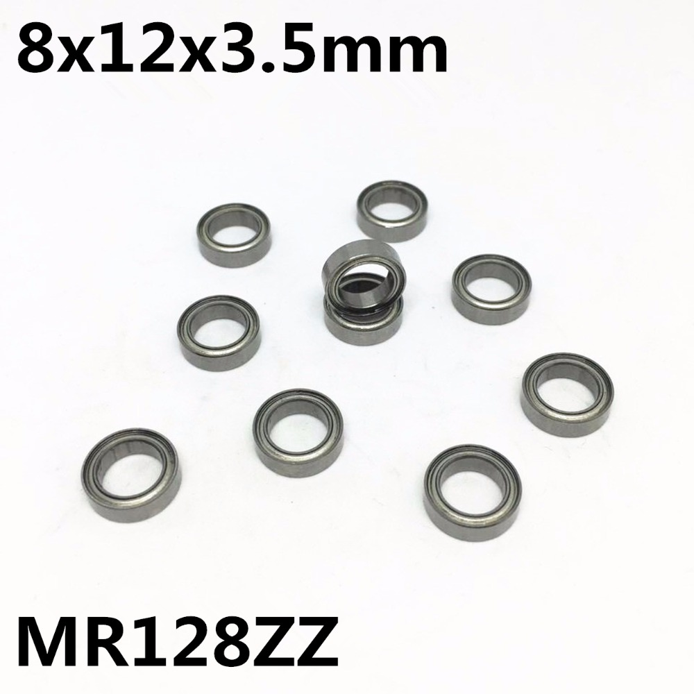 10Pcs MR128ZZ L-1280ZZ 8x12x3.5 Mm Deep Groove Ball Bearing Miniature Bearing Advanced High Quality Model MR128