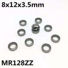 10Pcs High quality MR128ZZ L-1280ZZ ball bearing 8x12x3.5 deep groove free shipping