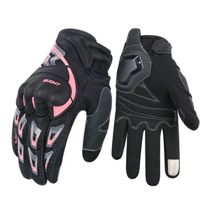 Image 1 - SUOMY motorcycle gloves women men summer breathable Pink touch screen moto gloves for motocross motorbike Racing Riding