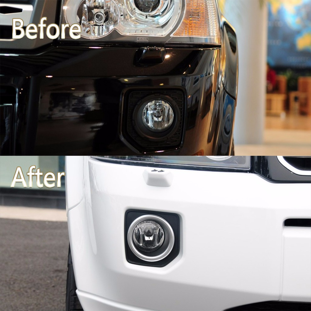 Fog Lamp light  cover Grille  BEZEL for Land Rover  Freelander 2  LR2  2013 2014 2015 2016 car rear trunk security shield cargo cover for land rover freelander 2 lr2 2006 2017 high qualit black auto accessories