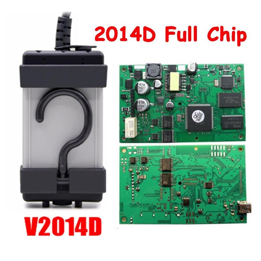 2019 plus récent Scanner de puce verte pour Volvo VIDA DICE PRO + 2014D Fimware mise à jour outil de Diagnostic de voiture avec dés Vida multilingue