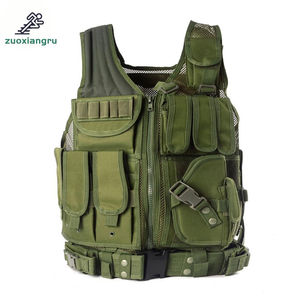 где купить Unloading Police Tactical Hunting Vest Outdoor Camouflage Military Body Armor Sports Wear Vest Army Swat Molle Vest Black по лучшей цене