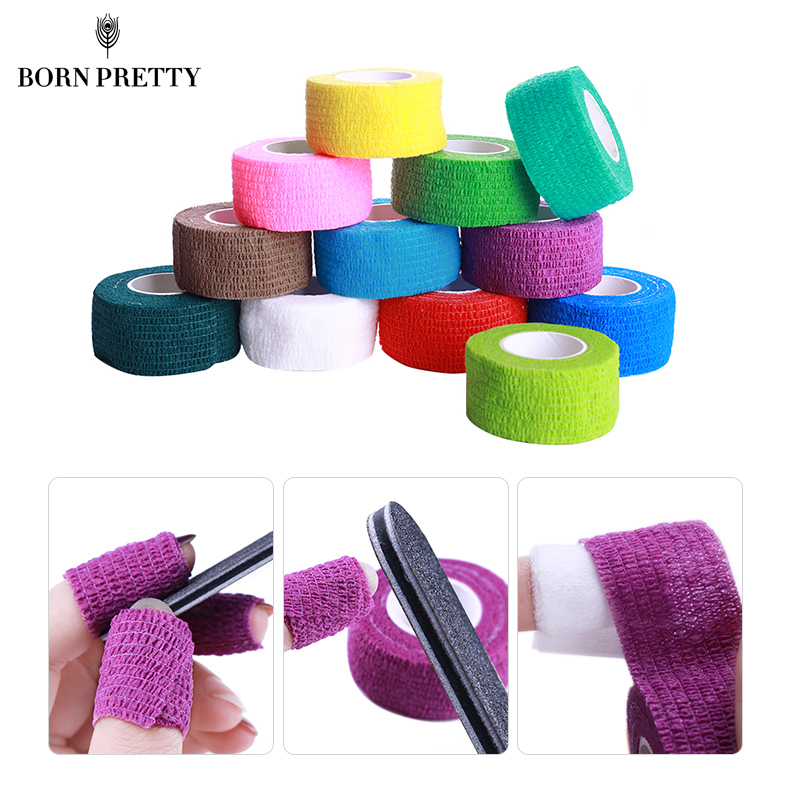 5 Pcs Nail Art Gel Polish Remove Bandage Tool Set Adhesive Roll Tape Skin Care Protect Manicure Nail Art Tool Random Colors 1 roll 10m clear nail double side nail adhesive tape strips tips transparent manicure nail art tool