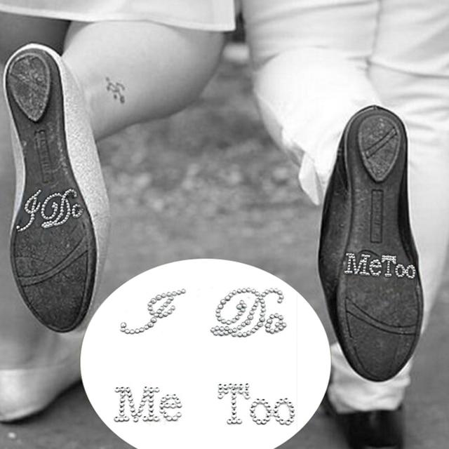 87b4ec76e 1 Set I Do Me Too Bridal Groom Shoe Sticker White Clear Rhinestone Wedding  Decor