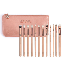 High Quality Zoeva 12 PCS Rose Golden Complete Eye Set Eyeshadow Eyeliner Blending Pencil Makeup Brushes With Case