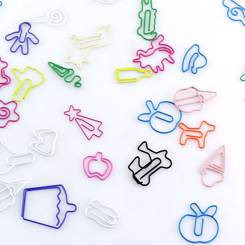 TUTU 30PCS/lot Kawaii Random Shape Bookmark Clip Memo Clip Paper Clip Bookmark DIY Novelty Office Sales Promotion H0185